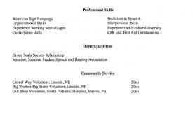Sample Speech Pathologist Resume by Resume Objective For Speech Pathologist Reentrycorps
