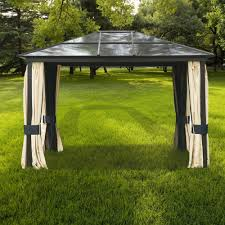 Discount Gazebos by Outsunny Gazebo Outdoor Furniture Canopy Patio Garden Yard Shelter