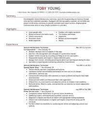 Auto Mechanic Resume Sample by Luxury Ideas Maintenance Resume 16 Unforgettable General