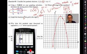 common core algebra ii unit 6 lesson 1 quadratic function review