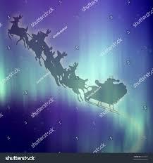santa claus rides his reindeer on stock illustration 2025418
