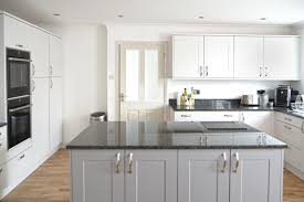 grey kitchen cupboards with black worktop grey shaker style kitchen kitchen redesign kitchen
