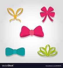 decorative bows set of decorative bows royalty free vector image
