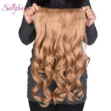 one hair extensions sallyhair 190g 24inch 4 in wavy hairpiece synthetic