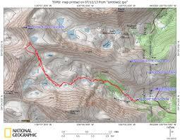 Colorado Topo Maps by Pacific Peak East Ridge Colorado Keith