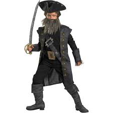 Pirates Caribbean Halloween Costume Pirates Caribbean Black Beard Deluxe Child Halloween