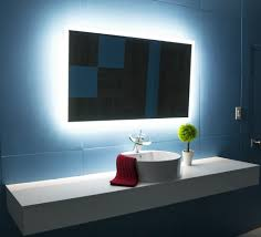 Lit Bathroom Mirror Backlit Bathroom Mirror Rectangle 48 X 28 In Ib Mirror