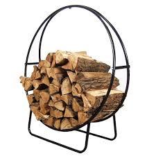 amazon com sunnydaze 48 inch tubular steel firewood log hoop