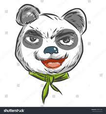 bad panda cartoon sketch stock vector 478831990 shutterstock