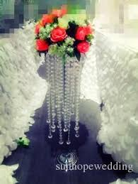 Crystal Flower Vases Wholesale Tall Acrylic Crystal Flower Vases For Centerpieces
