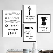 black and white prints for kitchen kitchen quotes italian canvas prints black white wall