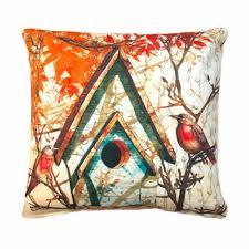 fall birdhouse outdoor throw pillow outdoor pillows
