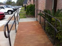 Wheelchair Ramp Handrails B C Construction Remodeling Katy Texas Ada Compliant