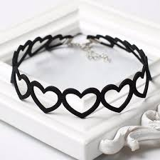 love heart choker necklace images Choker necklaces trending chokers jpg