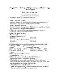 viva questions i alkalinity magnesium