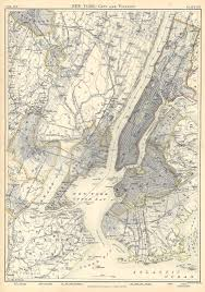 Map Of New York Harbor by The Bronx Legaltowns