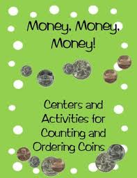 free money money money centers and activities for counting and