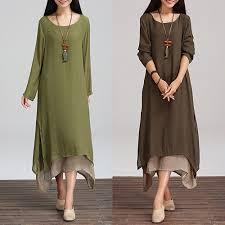 popular cotton maxi dress long sleeve buy cheap cotton maxi dress