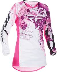 pink motocross bike 2017 fly racing womens kinetic jersey mx atv motocross off road