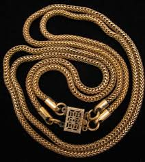 rope gold necklace images C 1940s vintage sterling vermeil double snake rope chain necklace jpg