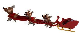 santas sleigh and reindeer stock illustration image of snow