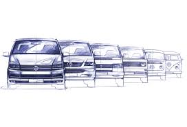 hippie volkswagen drawing the 6th generation u003c models u003c volkswagen commercial vehicles