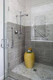 bathroom shower tile ideas photos bathroom shower with seamless doors large grey tile for the home