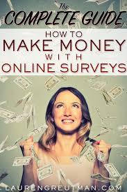 Money Making Online Surveys - the complete guide how to make money doing surveys lauren greutman