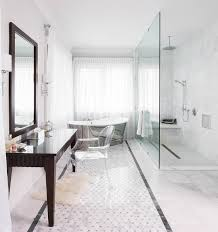 Free Standing Makeup Vanity Makeup Vanity With Three Mirrors Transitional Bathroom