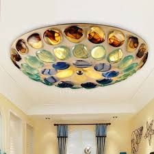 Glass Bathroom Light Shades Multi Color Glass Shade Unique Style Flush Mount Ceiling Lights