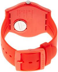 red swatch amazon com swatch men s quartz analog watch suor106 swatch watches