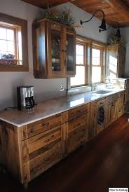 Rustic Hickory Kitchen Cabinets log cabin kitchen remodel installed woodland cabinetry rustic