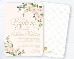 confirmation invitations girl confirmation invitation floral blush pink gold floral