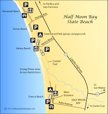 california map half moon bay half moon bay beaches