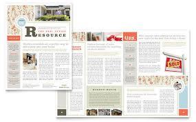 real estate home for sale newsletter template design