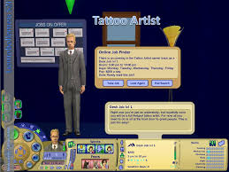Desk Job Game mod the sims new career tattoo artist pto cc