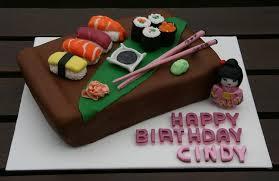 personalised cakes sushi birthday cake personalised cakes for birthdays weddings