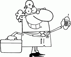 a doctor coloring page coloring home