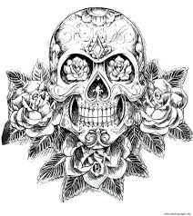 coloring coloring pages of sugar skulls cool skull image 5