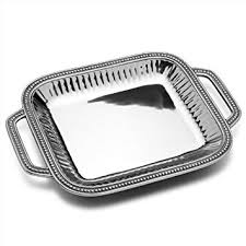 metal platters wilton armetale flutes and pearls rectangular serving