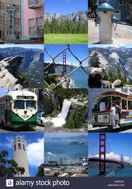 Map San Francisco To Yosemite National Park by San Francisco City And Yosemite National Park Montage California