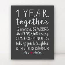 1 year anniversary gift ideas 1 year anniversary gift for boyfriend by printsbychristine on etsy