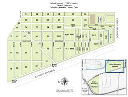 Frank Erwin Center Map Union Cemetery Columbus Franklin County Ohio