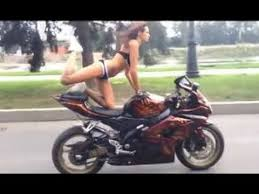 motorcycle crash lands on roof of car slow motion video youtube