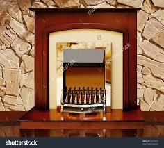 Kitchen Light Box by Fireplace Against A Stone Wall Stock Photo Shutterstock Preview