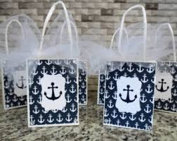 nautical gift bags anchor favor bags etsy