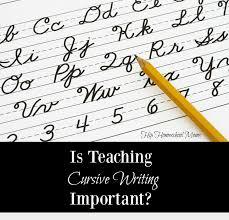 is teaching cursive writing important hip homeschool moms