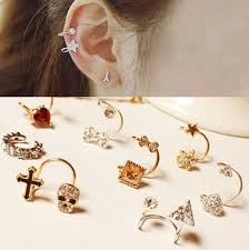 design of gold earrings ear tops gold ear tops designs fashion ear cuff earrings designs buy gold