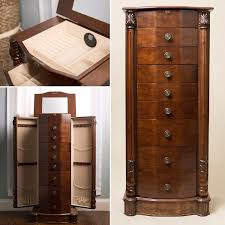 Jewelry Mirror Armoire Amazon Com Hives And Honey Henry Iv Walnut Jewelry Armoire