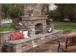 Stacked Stone Outdoor Fireplace - dry stack stone faced outdoor fireplace fire pits and fireplaces